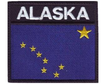 Alaska Badge Flag Embroidered Patch