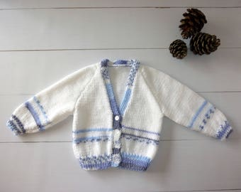Baby cardigan. Knitted cardigan. knitted baby sweater. Baby boy. Baby gift. Baby shower gift. 3 to 6 months. Knitted baby jacket.Baby Jumper