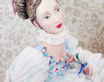 OOAK Art Doll The weather was beautiful, the Princess was...