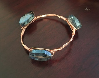 Blue Gem Bangle