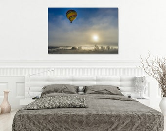 NAPA SERIES - Large Canvas or Print, Landscape photography, Hot air balloon, Napa Valley, Morning Fog, Sunrise, Wall art Poster, Countryside