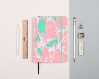 Lava Pastel Gold Foil Personalized Notebook/Sketchbook