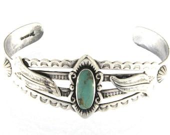 Vintage Bell Trading Post Sterling Silver Turquoise Bracelet
