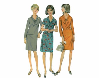 60s uncut Sheath Dress Pattern vintage SALE 40-32-42 Belted Waist Dress pattern Shift Dress pattern Bust 40 Simplicity 7223