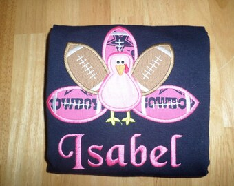 Girls Dallas Cowboy Turkey day Shirt
