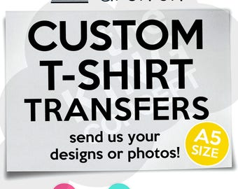 Custom Iron On T-Shirt Transfers Personalised Your Image Photo Design Hen Stag Nights Fancy Dress Costume Bachelorette Bachelor
