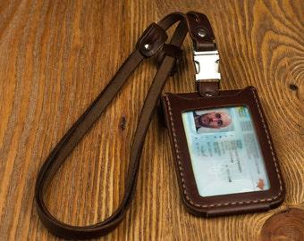 Id holder leather id holder badge holder lanyard badge reel id badge holder retractable badge id badge badge id holder id lanyard  id reel