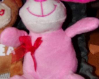Personalized Pink Stuffed Dog Animal for  Valentine's Day Customize Valentines Custom Plushie stuffie Valentine, Child Kid Children