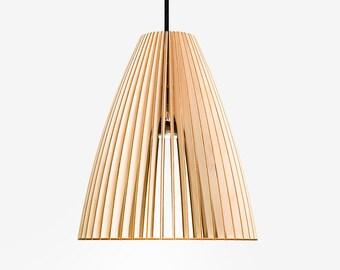 TEIA wood pendant light, wood lamp, lampshade