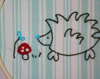 Hedgehog Embroidery PATTERN