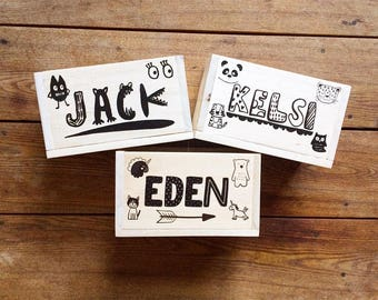 Personalized Kid's Crayon & Marker Storage Boxes