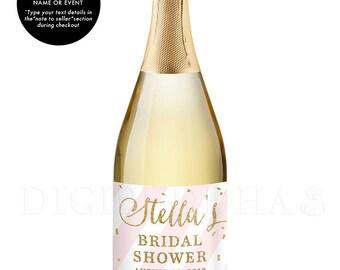 Brunch and Bubbly CHAMPAGNE LABELS Bridal Brunch Favor Bridal Shower Personalized Wedding Gift Bridal Shower Favor Bridal Shower - Stella
