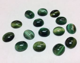 Green Tiger Eye (2pcs)
