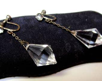 Art Deco crystal earrings