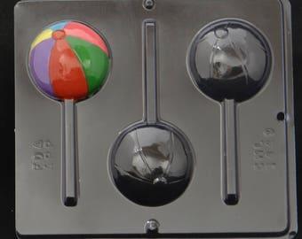Beach Ball Lollipop Chocolate Candy Mold 3449