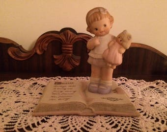 Vintage Enesco Mabel Lucie Atwell Memories of Yesterday Friday's Child is Loving and Giving Figurine