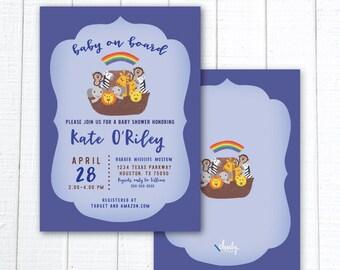 Noah's Ark Animal Baby Shower Invitation