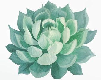 Succulent Print, Succulent Painting, Succulent Illustration, Succulent Art, Succulent Artwork, Plant Art, Plant Print, Nature Print, Boho