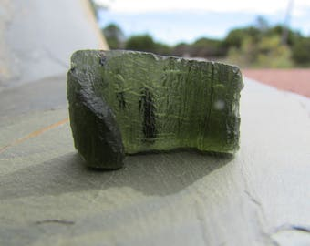 Moldavite Stone 6 grams Raw Moldavite Natural Meteorite Nugget Gemstone from Outer Space, Raw Crystals Rocks and Healing Stones