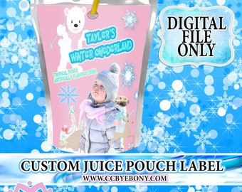 Winter ONEderland Custom Juice Pouch Label