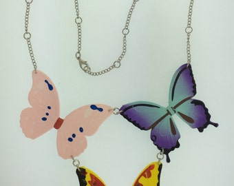 3 Butterfly Necklace