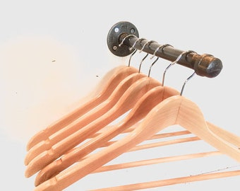 Clothes Rail Vintage made from industrial pipework fittings - Home or Retail Use