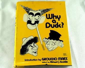 Vintage Groucho Marx Book Why a Duck in Hardback Movie Picture and Commentary