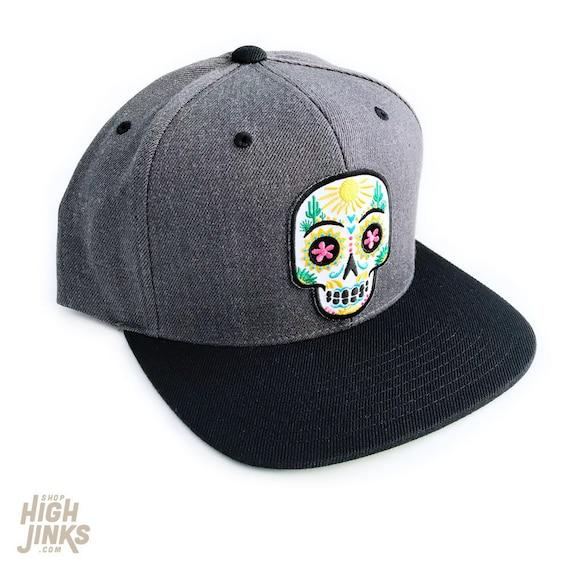 Desert Sugar Skull : Flat Brim Cap