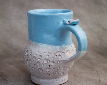 Stoneware mug, handmade ceramic, gift, ceramic mug, milk cup, turquoise mug, for lover, pottery mug, ceramics and pottery, modern tea mug