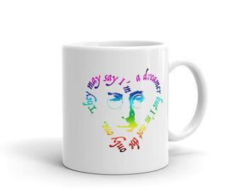 John Lennon Dreamer Support #DACA Rainbow Mug