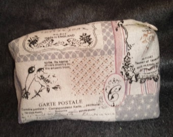 Vintage patterned make up bag