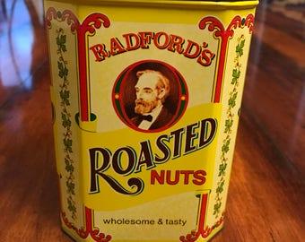 Vintage Radford's Roasted Nuts Tin - Charming!