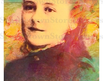 St. Therese of Lisieux Beautiful 8.5x11 or 11x17 inches Poster. New and Unique Inspirational Image of Devotion. Mothers Day Gift!
