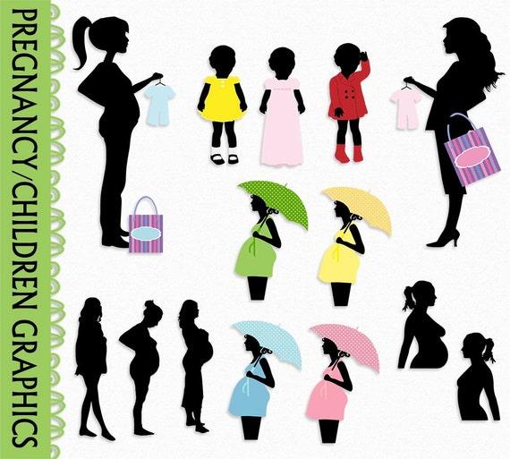pregnancy pregnant clip art graphic kid children clipart rh etsy com pregnancy clipart funny pregnant clip art free