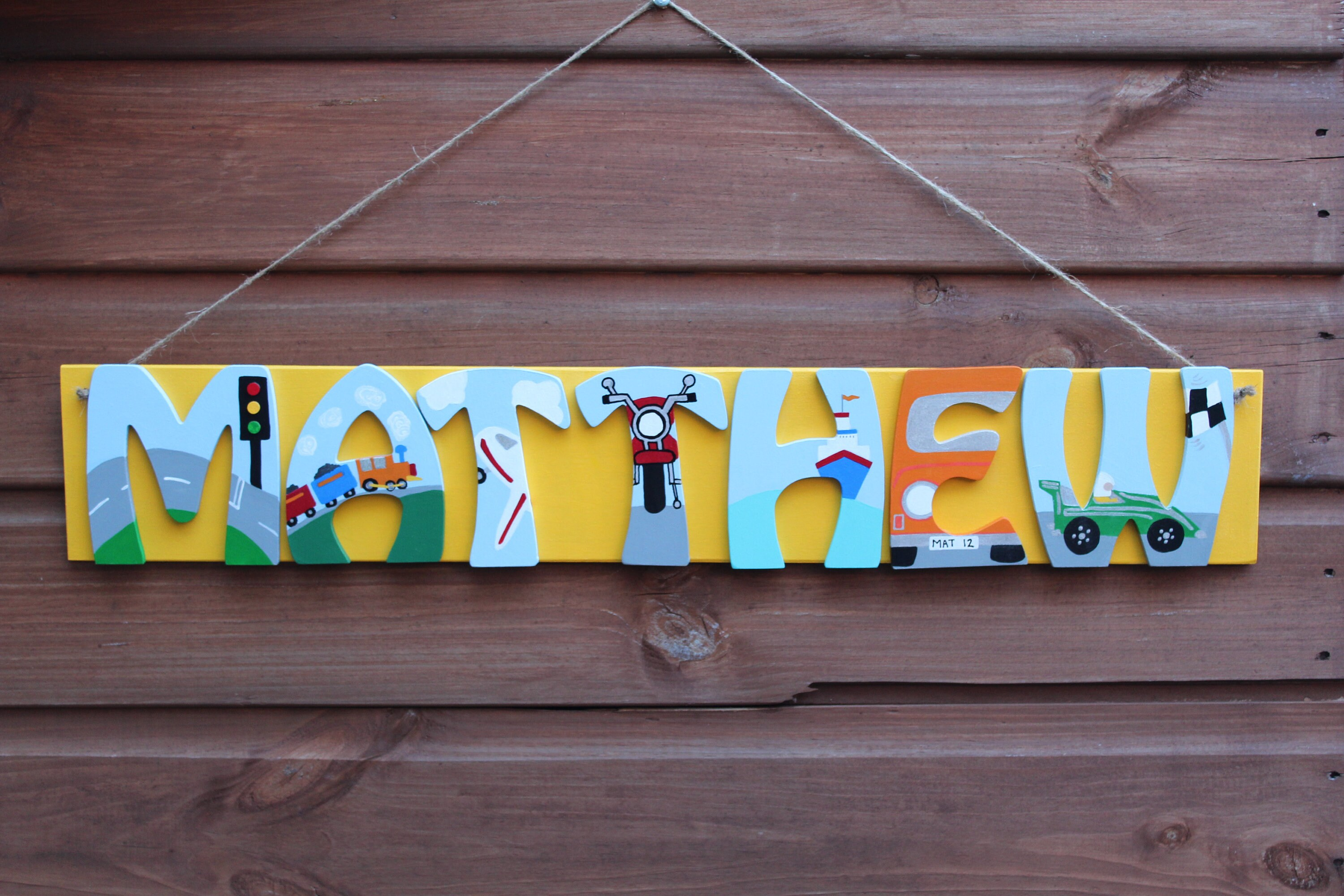 Childrens Personalised Sign For Bedrooms And Nurseries, Custom Name Sign,