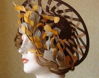Gorgeous straw saucer hat