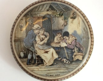 Victorian Pot Lid 'The Best Card'