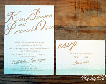 100 Ombre Wedding Invitations  - By My Lady Dye