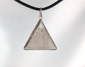 Smokey Quartz - Marel Vogel Pendant - set in Sterling Silver - A Grade !  Powerful