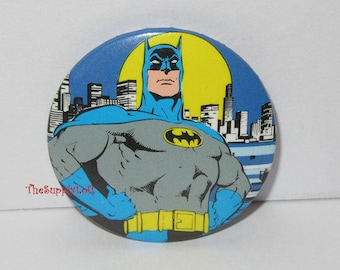 Vintage Batman Pin Button to Promote the 1980s Comics  - Collectible Gift
