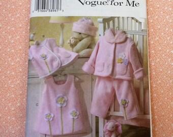 Vogue Sewing Pattern #7957, Toddler Sizes 1, 2, 3, 4