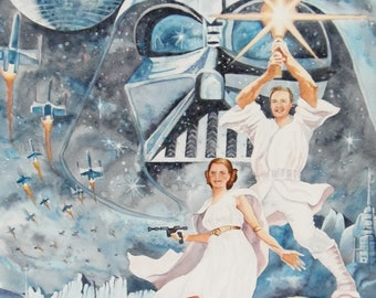 Starwars parody spoof painting -custom spoof painting