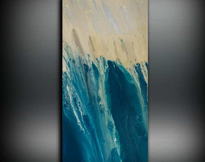 Art Painting, ORIGINAL Painting, Acrylic Painting Abstract Painting, Coastal Painting, Extra Large Wall Art, Coastal Home Decor 24 x 48