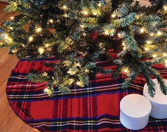 Plaid tree skirt Etsy