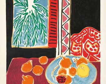 Vintage Nice Tourism Poster By Matisse A3 Print