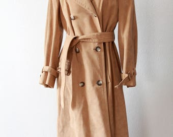 Ultra Suede Leather Long Trench Coat Jack Henry