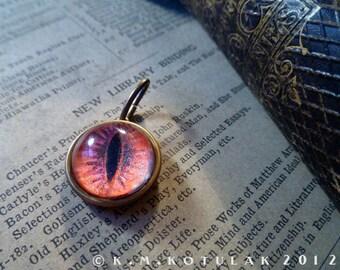 Iris Pendant - Vampire / Cat Eye - Red - Medium