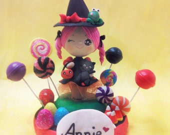 Halloween cake topper, Halloween witch cake topper