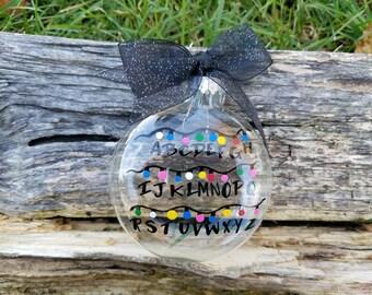 Stranger Things inspired lights ornament, Stranger Things inspired alphabet ornament, Stranger Things inspired ornaments