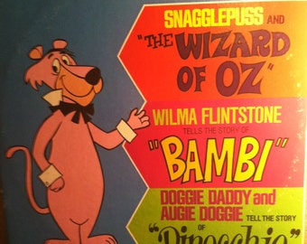 Snagglepuss And The Wizard Of Oz, Wilma Flintstone And Bambi Vinyl Childrens Record Album
